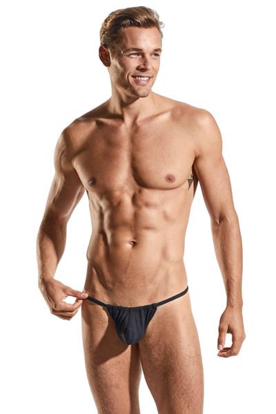 Cocksox Slingshot | Jet Black CX14-JBL - Mens G-String Thongs - Front View - Topdrawers Underwear for Men