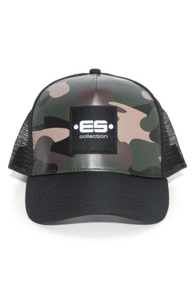 ES Collection Camo Cap CAP004-17 Camouflage - Mens Caps - Front View - Topdrawers Apparel for Men