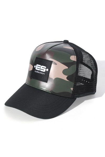 ES Collection Camo Cap CAP004-17 Camouflage - Mens Caps - Side View - Topdrawers Apparel for Men