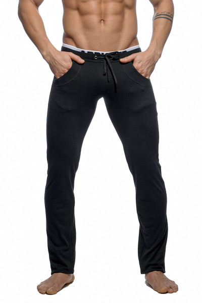 Addicted Combined Waistband Pant AD416-10 Black - Mens Athletic Pants - Front View - Topdrawers Clothing for Men