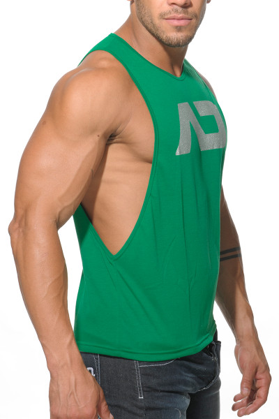 Addicted AD Low Rider Tank Top AD043-18 Green - Mens Athletic Tank Tops - Side View - Topdrawers Clothing for Men