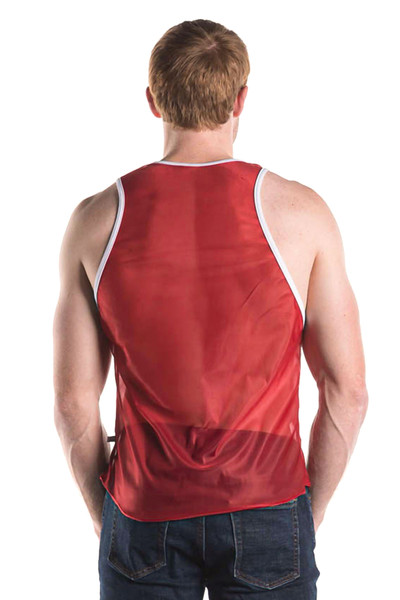 Go Softwear AJ Decathlon Competition Tank 8541-BUR Burgundy - Mens Athletic Tank Tops - Rear View - Topdrawers Clothing for Men