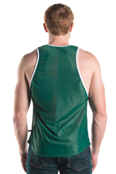 Go Softwear AJ Decathlon Competition Tank 8541-FGN Forest Green - Mens Athletic Tank Tops - Rear View - Topdrawers Clothing for Men