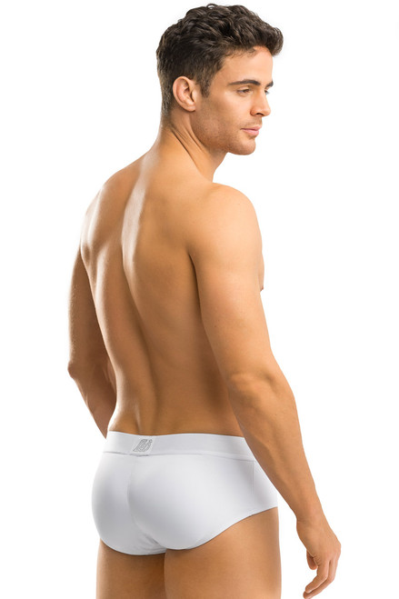 f92bd748d74 Leo Padded Butt Enhancer Brief 033293 White from Topdrawers Underwear -  Back View