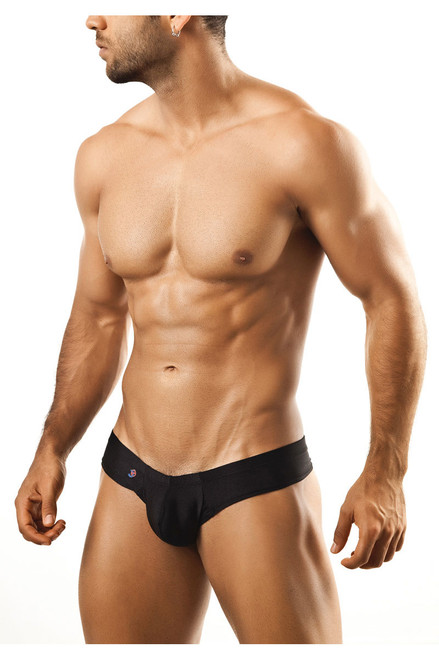 Black - Joe Snyder Mini Cheek Thong JS22 - Front View - Topdrawers Underwear  for Men c36c5d17b