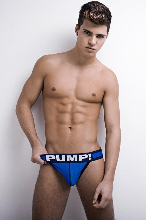 PUMP! Underwear Titan Jockstrap Blue 15015 from Topdrawers Menswear - Front View