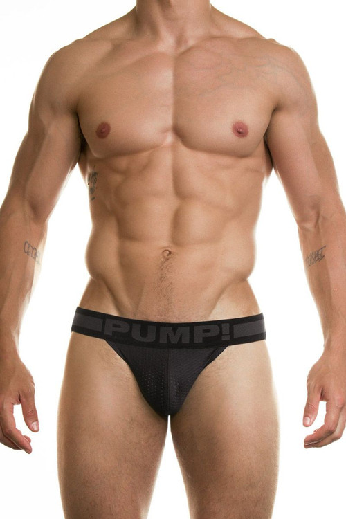 PUMP! Underwear Ninja Jockstrap Black 15016 from Topdrawers Menswear - Front View