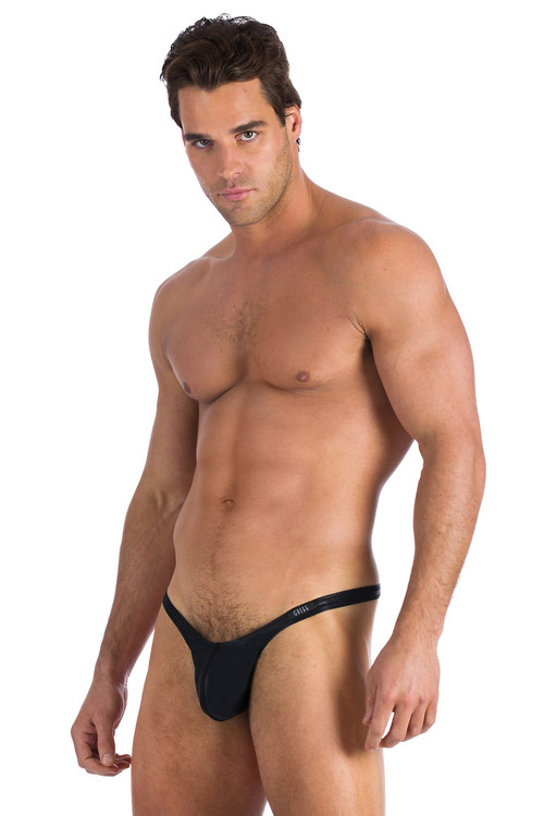 Gregg Homme Underwear Boy Toy Thong Black 95004 from Topdrawers Menswear - Full View 2