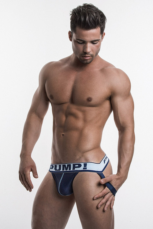 PUMP! Underwear Blue Steel Jock 15024 from Topdrawers Menswear - Full View