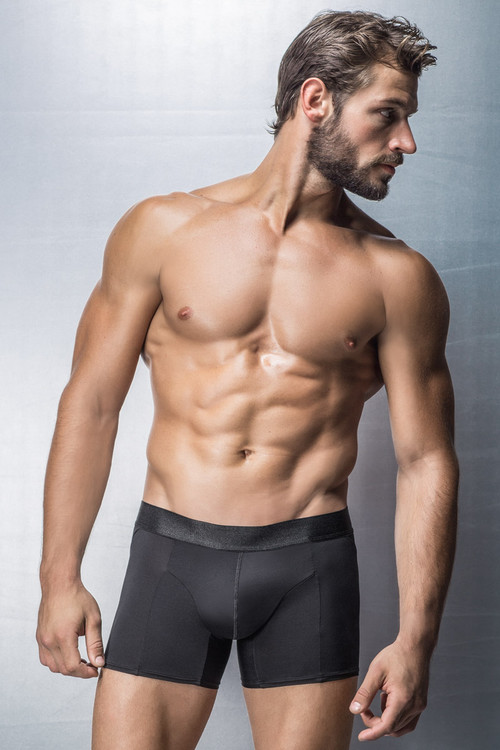 Leo Advanced Boxer Brief with Dual Lifter 033298 Black form Topdrawers Underwear - Large View