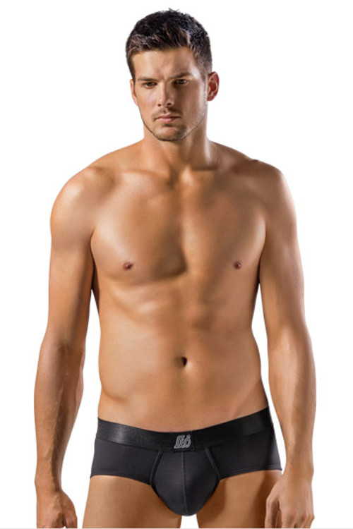 Leo Brief with Advanced Fit 033278N Black from Topdrawers Underwear - Front View