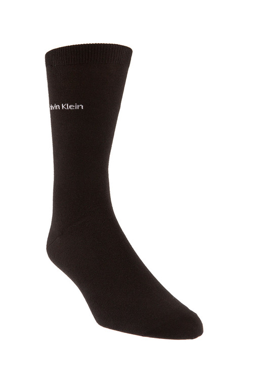 00 Black - Calvin Klein Giza Cotton Flat Knit Sock MCL117 from Topdrawers Menswear