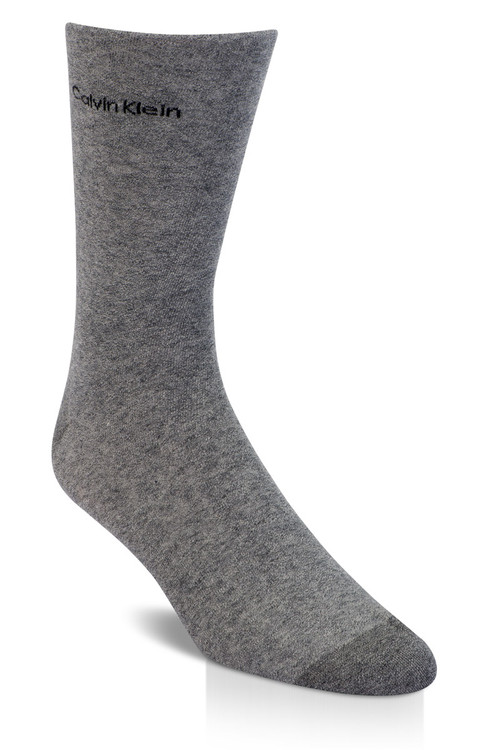 M88 Salt N Pepper - Calvin Klein Giza Cotton Flat Knit Sock MCL117 from Topdrawers Menswear