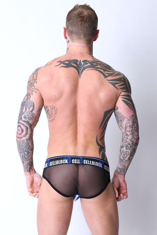 Blue - CellBlock 13 Dark Room Brief CBU073 Rear View - Topdrawers Underwear for Men