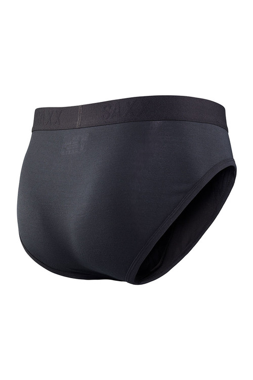BLK Black - Saxx Ultra Brief with Fly SXBR30-BLK - Rear View - Topdrawers Underwear for Men