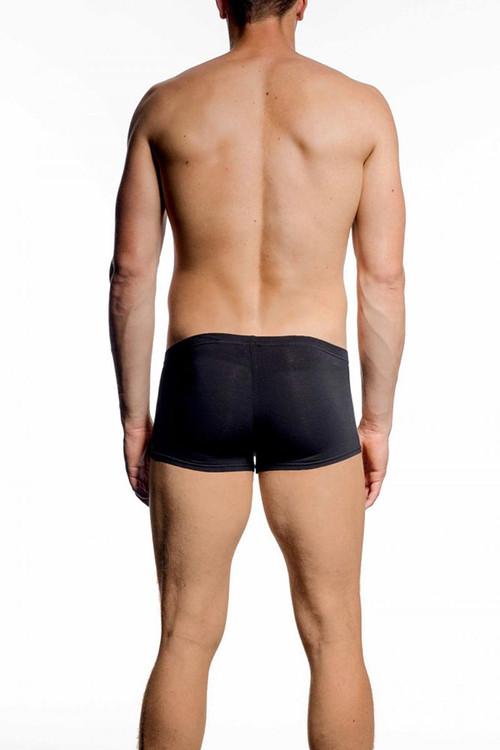 001 Black - JM NATURA Low Rise Pouch Boxer 90394 - Rear View - Topdrawers Underwear for Men