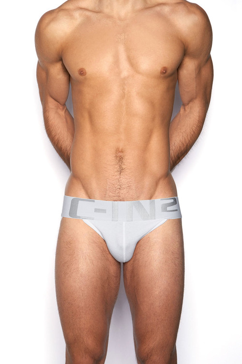 100 White - C-IN2 Core Jock Strap 4025 - Front View - Topdrawers Underwear for Men