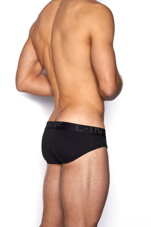 001 Black - C-IN2 Core Lo No Show Profile Brief 4013 - Rear View - Topdrawers Underwear for Men