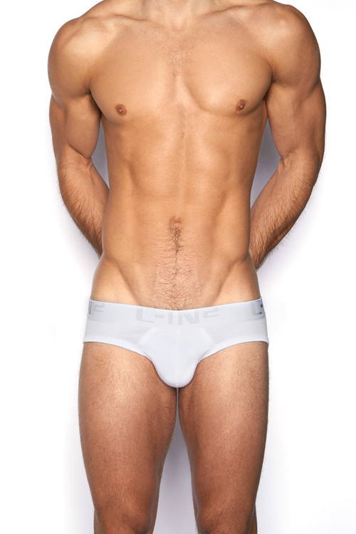 100 White - C-IN2 Core Lo No Show Profile Brief 4013 - Front View - Topdrawers Underwear for Men