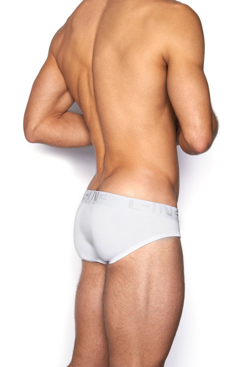 100 White - C-IN2 Core Lo No Show Profile Brief 4013 - Rear View - Topdrawers Underwear for Men