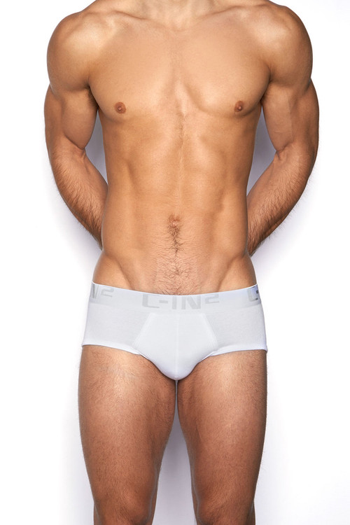 100 White - C-IN2 Core Profile Brief 4003 - Front View - Topdrawers Underwear for Men