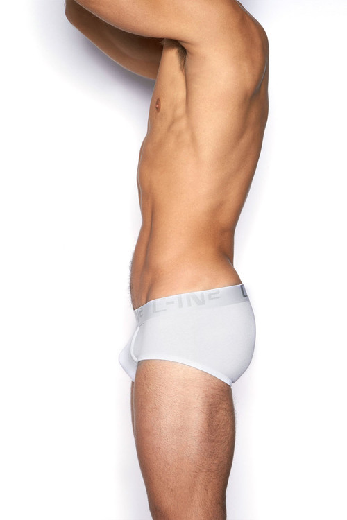 100 White - C-IN2 Core Profile Brief 4003 - Side View - Topdrawers Underwear for Men