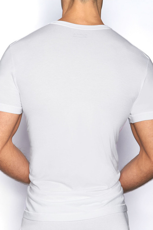 100 White - C-IN2 Core Crew Neck T-Shirt 4105 - Rear View - Topdrawers Underwear for Men