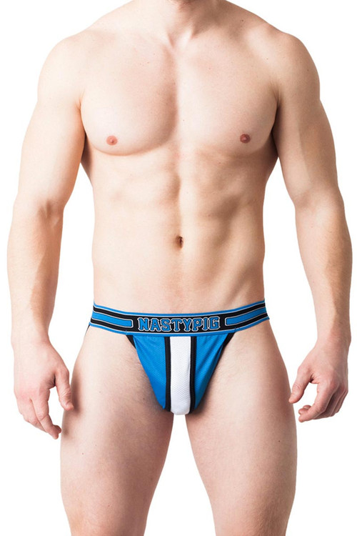 Blue - Nasty Pig Third Base Jock Strap 5564 - Front View - Topdrawers Underwear for Men