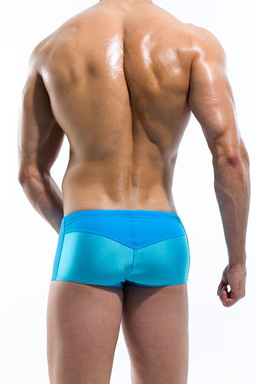 Aqua - Modus Vivendi Contrast Swim Boxer S1625 - Rear View - Topdrawers Swimwear for Men