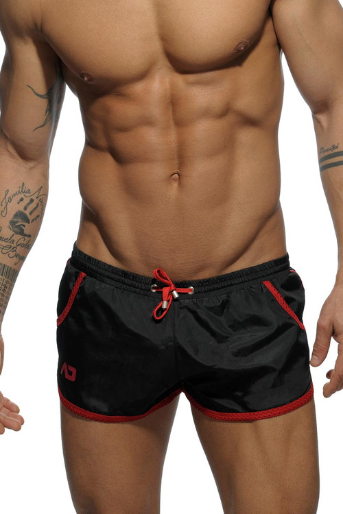 10 Black - Addicted Rocky Swim Short ADS112 - Front View - Topdrawers Swimwear for Men