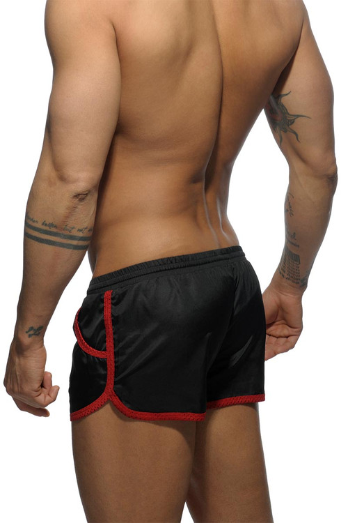 10 Black - Addicted Rocky Swim Short ADS112 - Rear View - Topdrawers Swimwear for Men