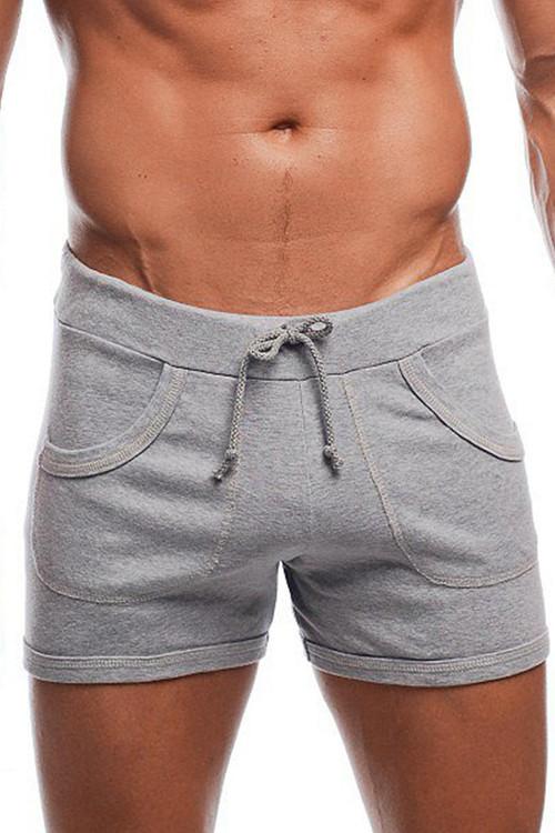 "Heather Grey - Go Softwear 9"" Sport Short w/ Pockets 4641 - Front View - Topdrawers Menswear"