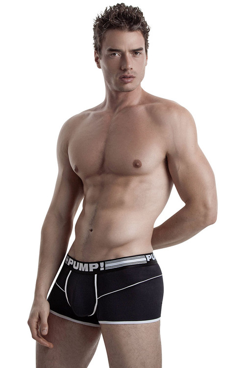 Black - PUMP! Free-Fit Boxer 11070 - Front View - Topdrawers Underwear for Men