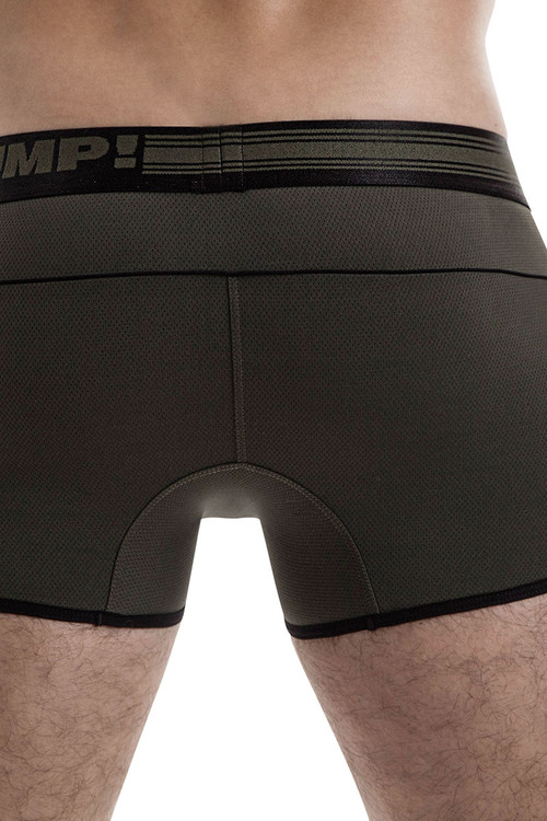 Military Green - PUMP! Free-Fit Boxer 11071 - Rear View - Topdrawers Underwear for Men