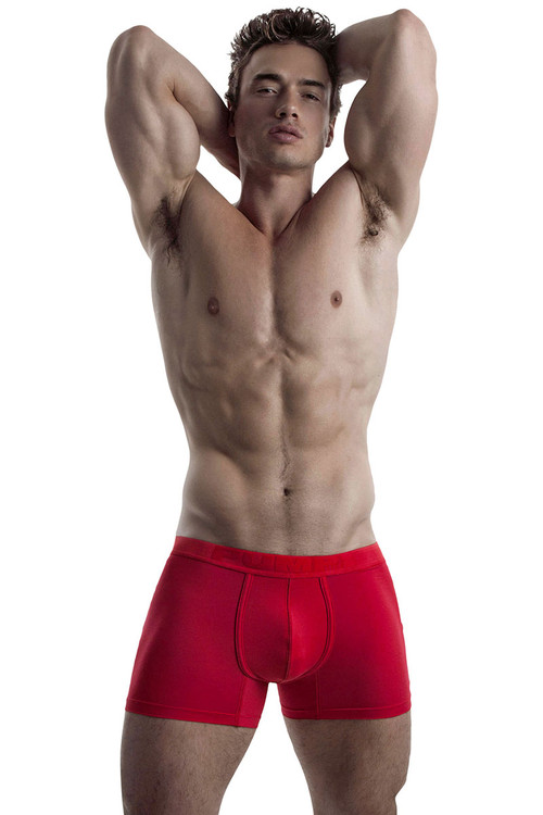 Red - PUMP! Cooldown Boxer 11064 - Model View - Topdrawers Underwear for Men