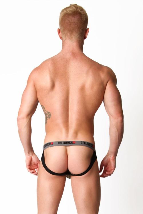 Army Green - CellBlock 13 Ward13 Seamless Jock Brief CBU107 - Rear View - Topdrawers Underwear for Men