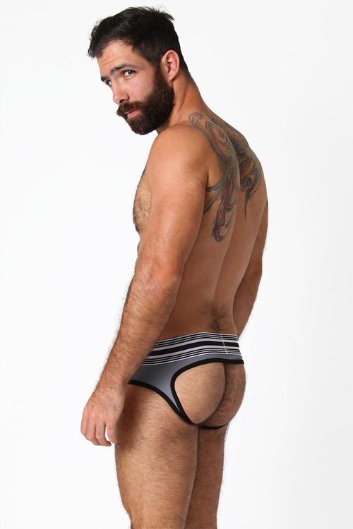 Red/White/Grey - CellBlock 13 Cellmate Jock Brief CBU111 - Side View - Topdrawers Underwear for Men