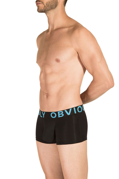 1A Black - Obviously EveryMan Trunk B03 - Side View - Topdrawers Underwear for Men