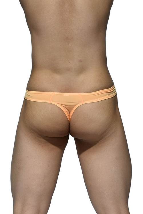 Orange - Private Structure Desire Glaze Thong DGEMU3545BT - Rear View - Topdrawers Underwear for Men