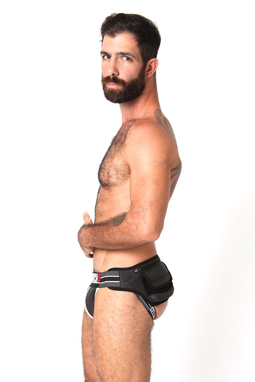 White - CellBlock 13 Smuggler Jock-Pack CBU121 - Side View - Topdrawers Underwear for Men