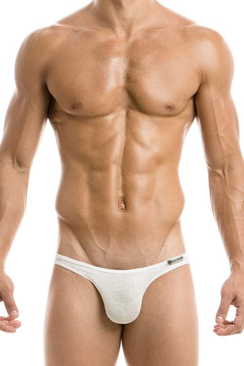 White - Modus Vivendi Mohair Low Cut Brief 03711 - Front View - Topdrawers Underwear for Men