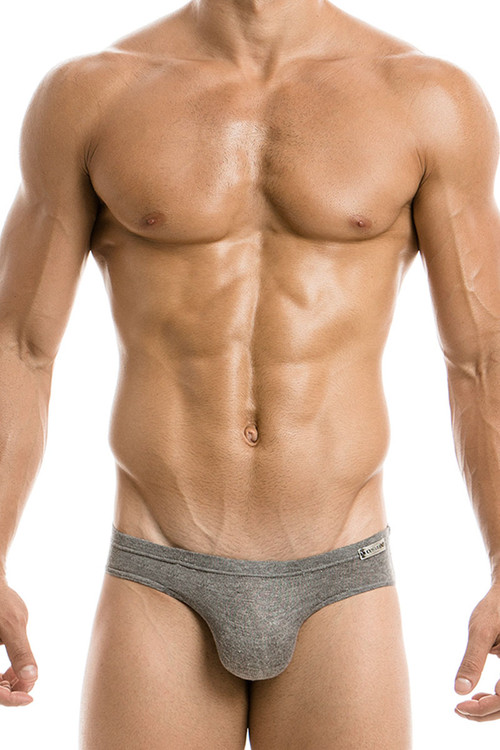 Grey - Modus Vivendi Mohair Brief 03721 - Front View - Topdrawers Underwear for Men