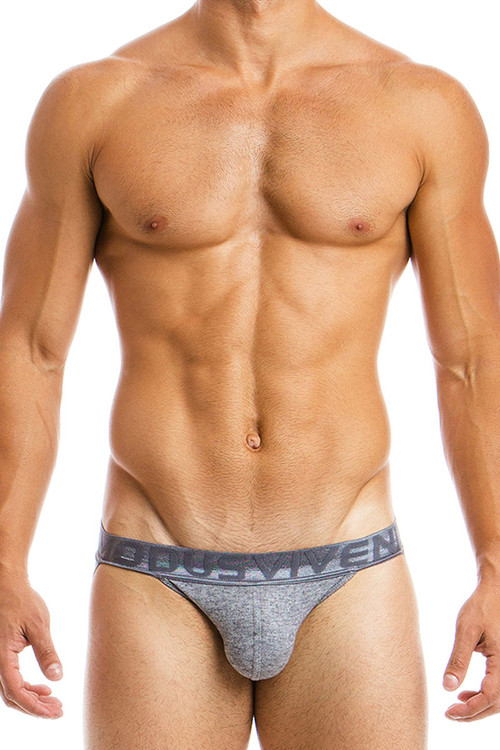 Grey - Modus Vivendi Mohair Jockstrap 03715 - Front View - Topdrawers Underwear for Men