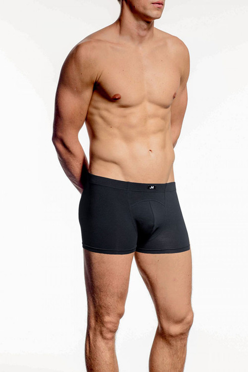 001 Black - JM NATURA Pouch Boxer 90327 - Front View - Topdrawers Underwear for Men