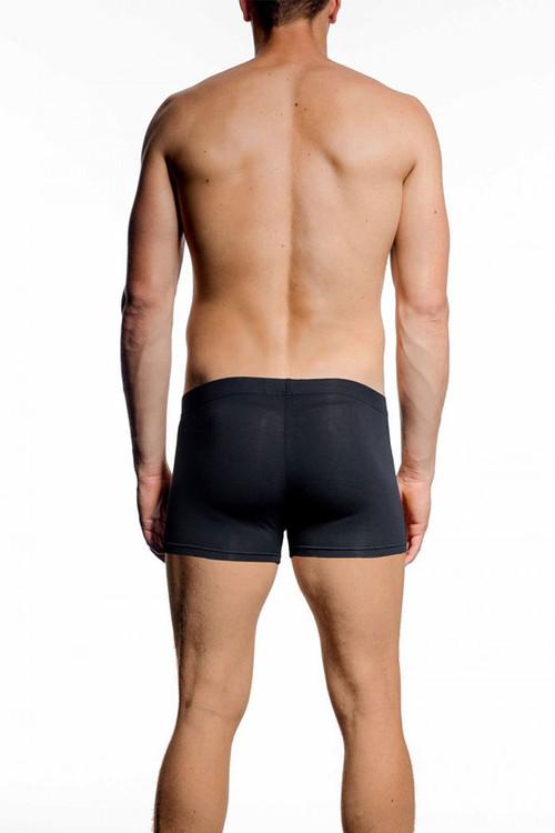 001 Black - JM NATURA Pouch Boxer 90327 - Rear View - Topdrawers Underwear for Men