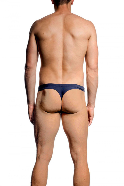 012 Navy - JM SKINZ Thong 88165 - Rear View - Topdrawers Underwear for Men