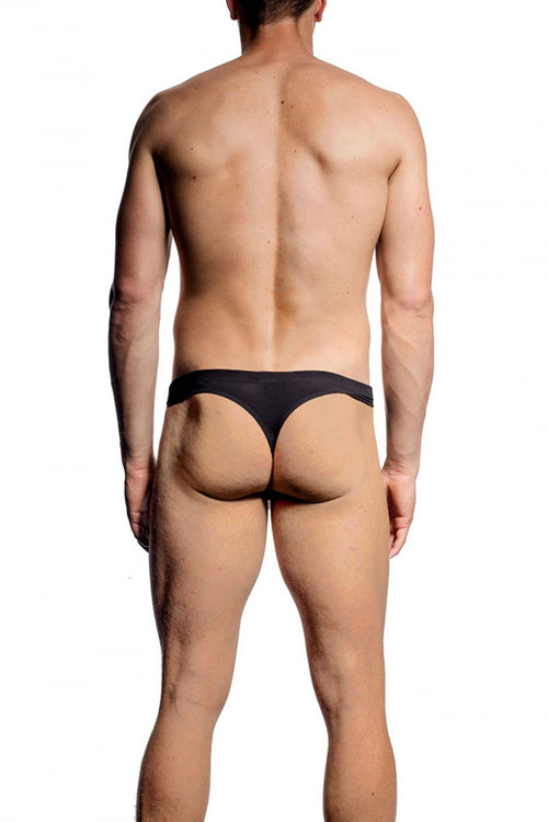 001 Black - JM NATURA Thong 90365 - Rear View - Topdrawers Underwear for Men