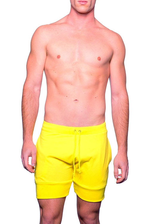 Sunny Yellow - Go Softwear Cal Guy Dock Short 4661 - Front View - Topdrawers Menswear