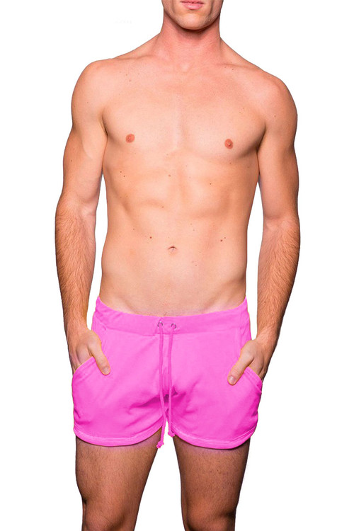Deep Pink - Go Softwear Cal Guy Rower Short 4664 - Front View - Topdrawers Menswear