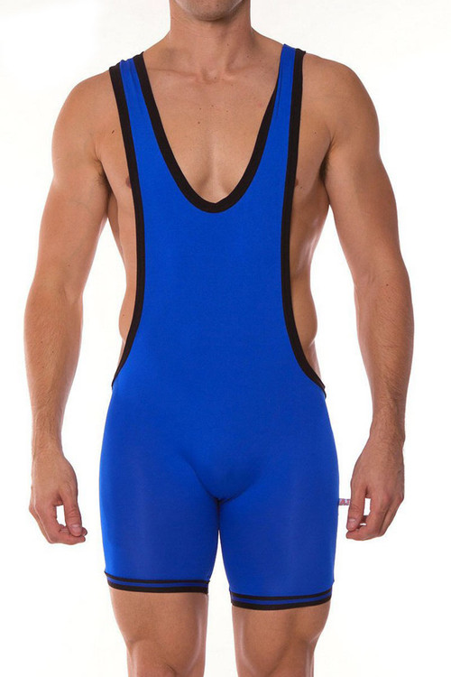 Royal Blue - Go Softwear AJ Gym Zephyr Wrestler 8778 - Front View - Topdrawers Underwear for Men